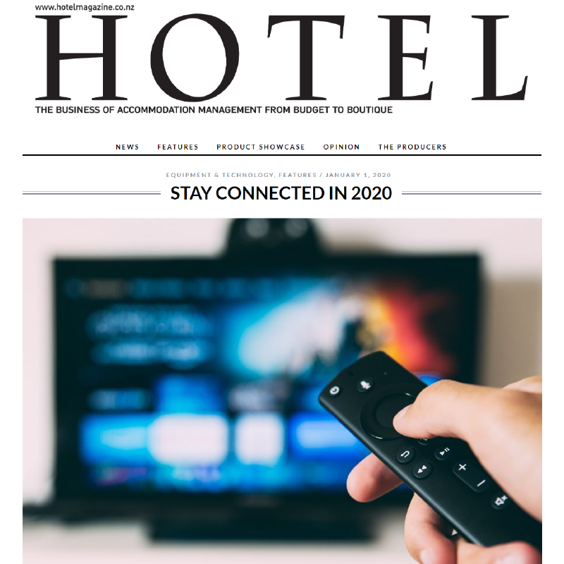 Hotel Magazine - Stay connected in 2020